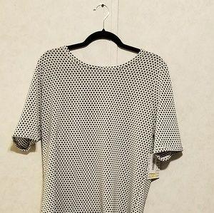 NWT 3xl Gigi Shirt-Black & White Polkadot